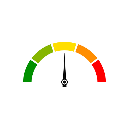 Customer satisfaction meter speedometer set. Vector illustration