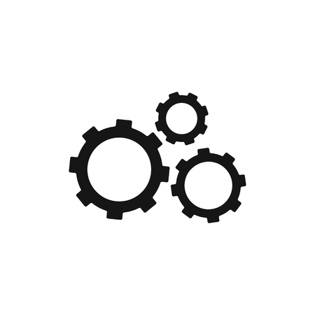 Settings icon with additional gears icon, vector illustration