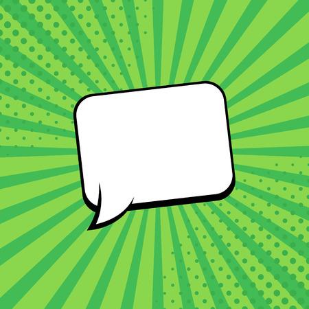 Comic rays with speech bubbles. Comic superhero bubble. Comics page layout. Rays, radial, halftone. Vector illustration Ilustração