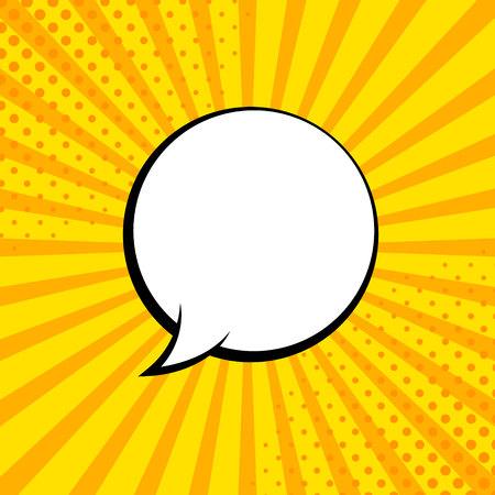 Comic rays with speech bubbles. Comic superhero bubble. Comics page layout. Rays, radial, halftone. Vector illustration Stock Illustratie