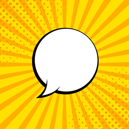 Comic rays with speech bubbles. Comic superhero bubble. Comics page layout. Rays, radial, halftone. Vector illustration Illustration