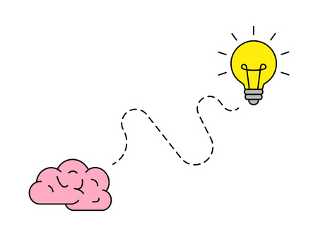 Bright idea icon. Bulb icon. Brainstorming. Creativity Idea Vector illustration