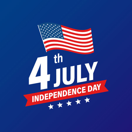 USA Independence Day 4th of July holiday. United states of America flag. Happy independence day banner. Memorial day. American background. Vector illustration