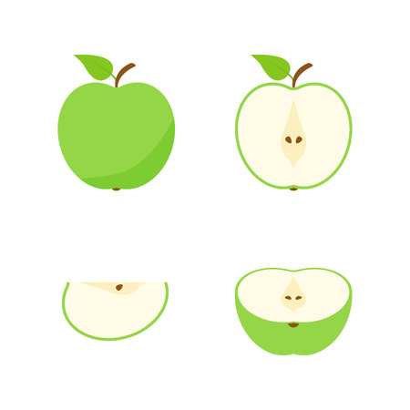 Set of fruits and berries. Summer fruit. Fruit apple, pear, strawberry, orange, peach, plum, banana, watermelon pineapple kiwi lemon Fruits vector collection Vector illustration Stock Vector - 124526489