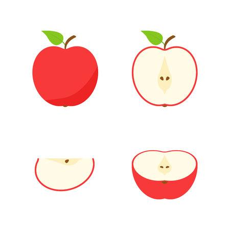 Set of fruits and berries. Summer fruit. Fruit apple, pear, strawberry, orange, peach, plum, banana, watermelon pineapple kiwi lemon Fruits vector collection Vector illustration