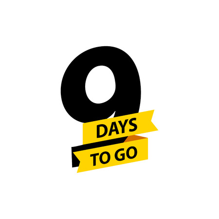 Number 9 of days to go. Collection badges sale, landing page, banner