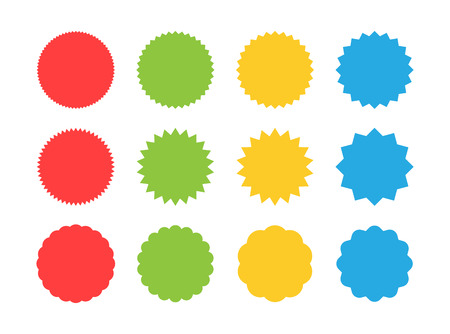 Big set of starburst sale sticker label. Sunburst price tag discount sticker, shopping, sale, special offer badges. Retro style. Label. Vector illustration