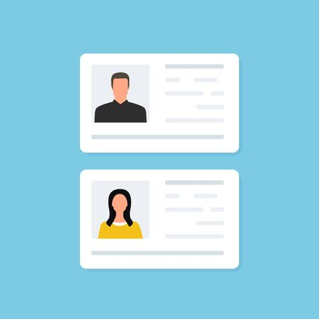 ID Card and Identification card. Business. Identity. Vector illustraation