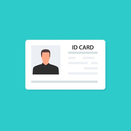 ID Card and Identification card. Business. Identity. Vector illustraation Stock Vector - 124945473