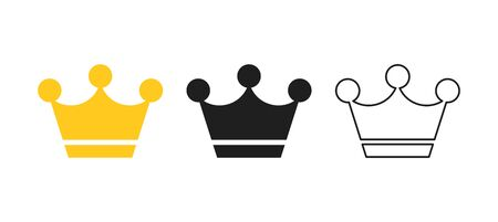 Big collection quolity crowns. Gold crown. Royal Crown icons collection set. Vintage crown. Vector illustration