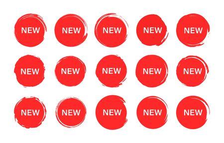 Set of tag New label. Grunge stamps, badges and banners. Special offer, hot sale, Best price. Shopping. Vector illustration Ilustração
