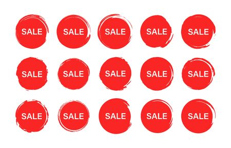 Set of tag sale label. Grunge stamps, badges and banners. Special offer, hot sale, Best price. Shopping. Vector illustration