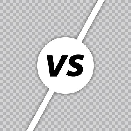 Versus VS letters fight. Versus text brush painting letters. VS in transparent background. Vector illustration