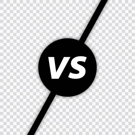 Versus VS letters fight. Versus text brush painting letters. VS in transparent background. Vector illustration