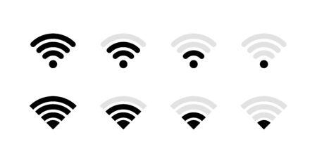 Big set wireless and wifi icons. Best collection. Vector Illustration Ilustração