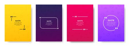 Quote box frame, big set. Quote box icon. Texting quote boxes. Blank template quote text info design boxes quotation bubble blog quotes symbols. Creative vector banner illustration