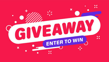 Giveaway banner. Post template. Win a prize giveaway. Social media poster. Vector design illustration 向量圖像