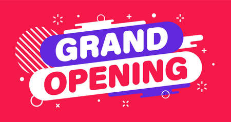 Modern banner grand opening. Banner for business, marketing and advertising. Vector illustration
