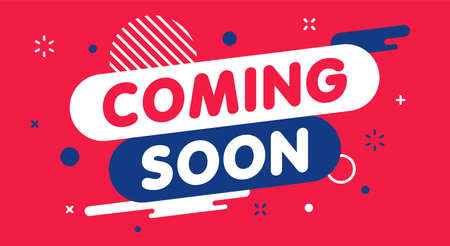 Modern banner coming soon. Banner for business, marketing and advertising. Vector illustration