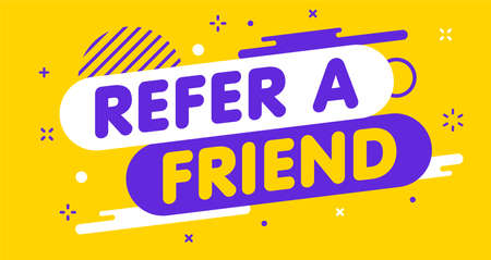 Modern banner Refer a friend. Banner for business, marketing and advertising. Vector illustration