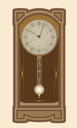 wall clock: Wall clock with pendulum Illustration