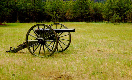 Canon Used in Civil War Reenactments in a Field photo