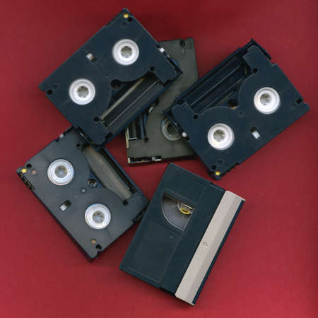 Digital Video Tapes in Disarray Stock Photo - 3320839