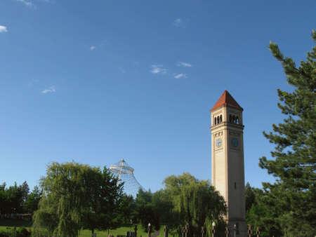 riverfront: Riverfront Park Clock Tower and Pavillion