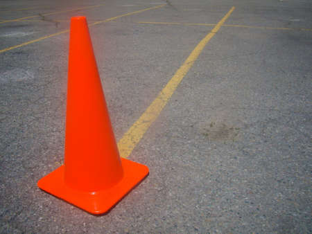tapering: Parked Traffic Cone Lot