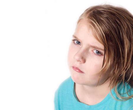 Unhappy Girl Stock Photo