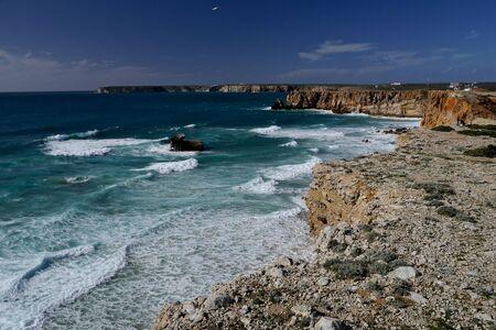 View over cliffs, Mediterranean Sea. Spain