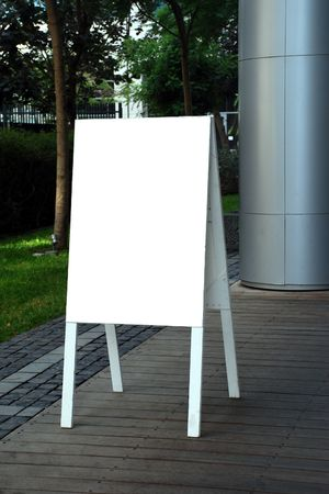 a blank restaurant signpost  photo