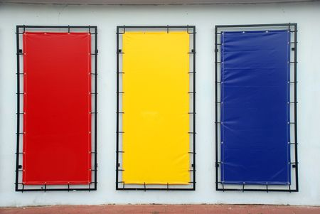 colorful blank signs with a copy space area Stock Photo - 7052926