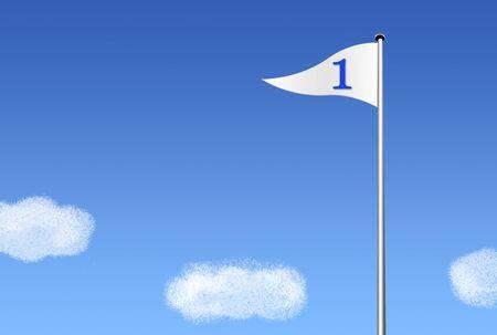 青い空の旗