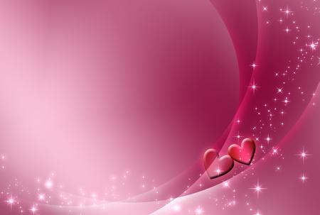 shiny hearts: background Stock Photo