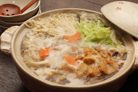あんこう鍋野菜添え。