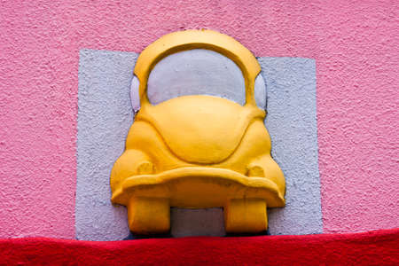 mini bus: yellow mini car