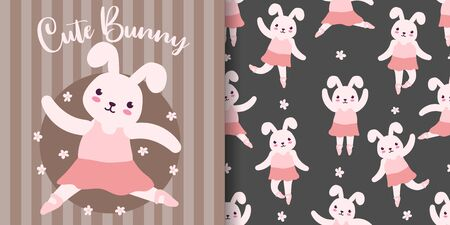 cute rabbit baby animal seamless pattern good for card birthday and new born