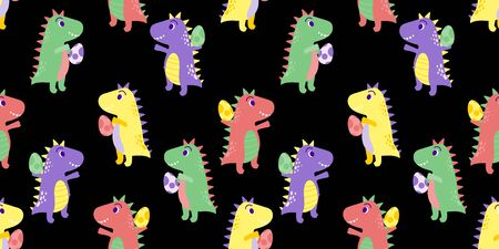 cute dinosaurs baby animal seamless pattern good for card birthday and new born