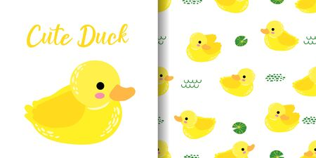 cute duck baby animal seamless pattern good for card birthday and new born