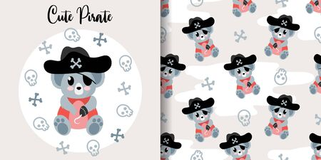 cute koala baby animal seamless pattern good for card birthday and new born Illustration