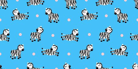 cute zebra baby animal seamless pattern good for card birthday and new born