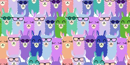 cute llama baby animal seamless pattern good for card birthday and new born
