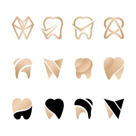 feminine dental elegant logo editable template Standard-Bild - 154589915