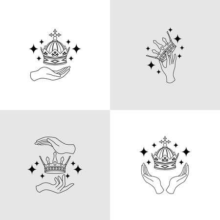 elegant feminine logo editable template