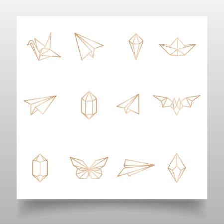 feminine elegant logo editable template Illustration