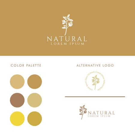 elegant feminine logo editable template Standard-Bild - 154589929