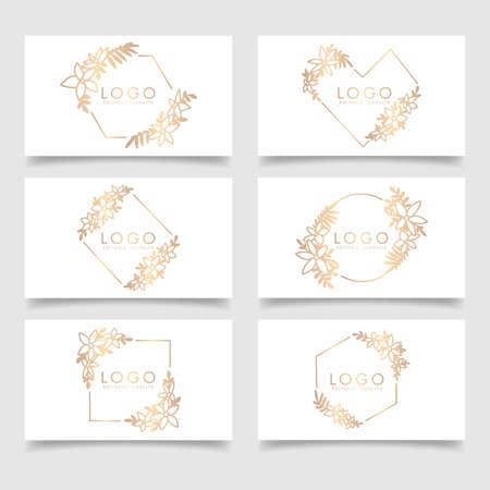elegant feminine logo editable template Standard-Bild - 154589931