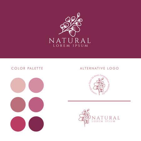 elegant feminine logo editable template Illustration
