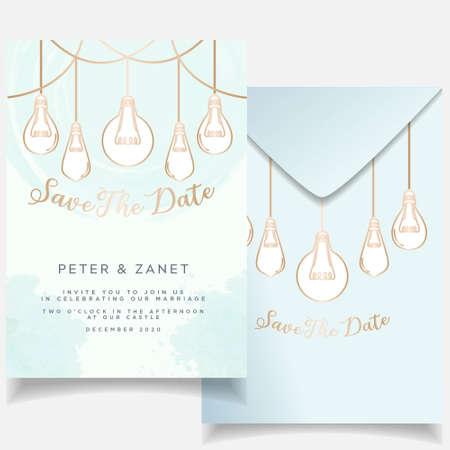 Beautiful Elegant event invitation wedding card editable template